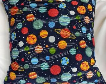 Robot/Space/Planets Cushion Cover