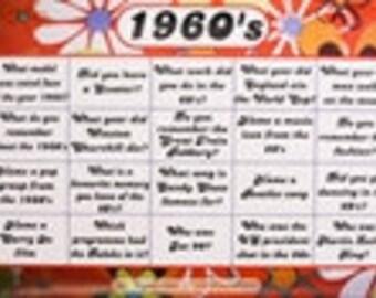 1960's Decade Reminiscence Mat