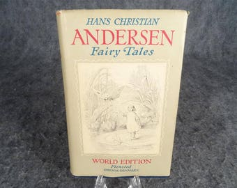 Hans Christian Anderson Fairy Tales Book, Flensted Odense-Denmark Edition 1950'S