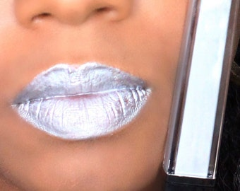 SILVER BELLS: Silver lipgloss - metallic sliver chrome lipgloss