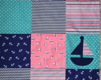 Baby Quilt - Sailboats