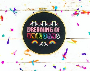 Cross Stitch Kit *** Dreaming of Unicorns***