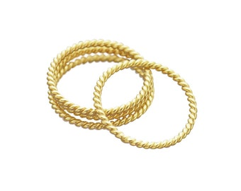 Twisted Wire Ring - Stacking Ring - Gold Ring