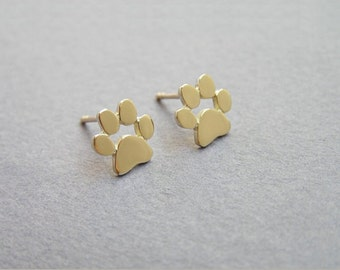 NEW Cute Animal Paw Print Stud Earrings