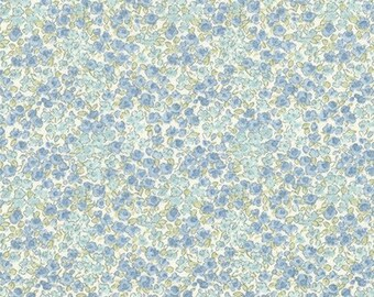 Ditsy Floral in Blue - Sevenberry fabric Fat Quarters 100% cotton quilting dressmaking UK Shop