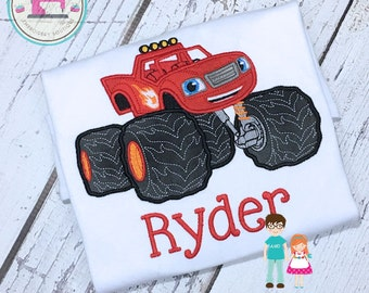 Blaze Shirt, Monster Machine Shirt, Blaze And The Monster Machines, Blaze Birthday Shirt, Boys Birthday Shirt, Monster Truck Birthday, Blaze