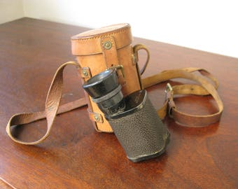 WW2 British Army Leather Cased Field No Prismatic Monocular Glasses C1925