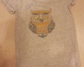 Girl T-shirt with eagle owl OWL 134/140