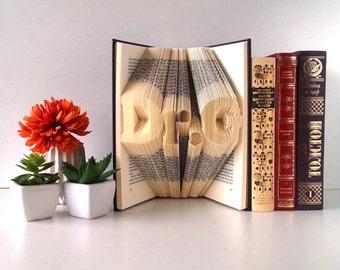 Doctorate gift, PhD, PhD Graduation gift, PhD Gift, Master Degree, Professor Gift, Graduation Gift, Folded Book Art, Doctor Gift, 001