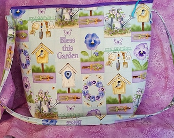 Summer Garden Themed Tote/Purse