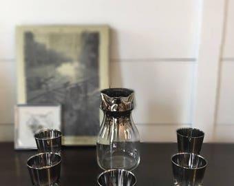 FREE SHIPPING | Vintage Dorothy Thorpe Barware | Ombre Chrome | MCM | Mid-Century Barware | Hollywood Regency | Barware | Vintage Bar |Bar