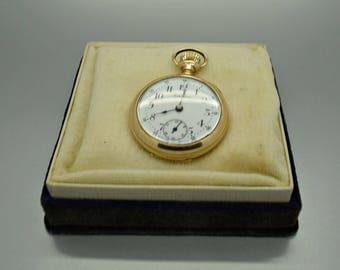 Vintage Gold Filled Locust Pocket Watch Z5016