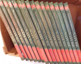 Illustrated Library of Nature Volumes 1 - 16 Complete Set 1971 Vintage Books Encyclopedia of Natural History and Ecology
