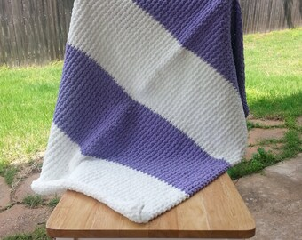 Berries'N'Cream Striped Baby Blanket
