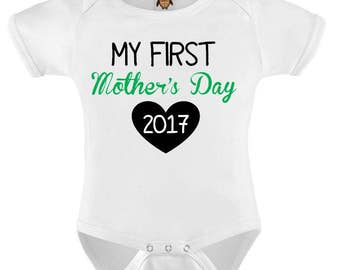 Cute Baby Bodysuit T-shirt Baby Child Infant Romper My First Mothers Day 2017 Gift Baby Onesie Vest Toddler Tee