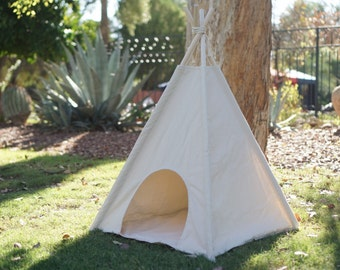 Scratch-free Pet teepee, dog teepee with door entrance