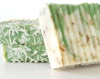 Sage, Tea Tree & Eucalyptus Cold Process Soap, Natural Soap, Organic Soap, Anti-Fungal Soap, Wrestling Soap, Homemade Soap, Handmade Soap