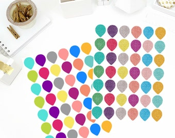 Tear Drop Stickers! Perfect for your Erin Condren Life Planner, calendar, Paper Plum, Filofax!
