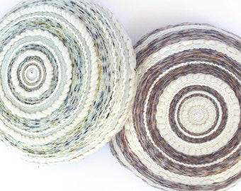 Round woven cushion - woven cushion - Totem by Poppy