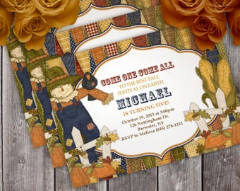 Fall Festival Birthday Party Invitation