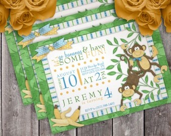 Going Bananas Birthday Party Invitation
