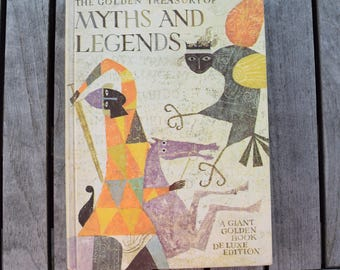 Vintage 1959 Golden Treasury of Myths and Legends Giant Golden Book Deluxe Edition Anne Terry White Alice and Martin Provensen Collection