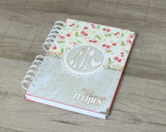 A5 recipe book for the favorite recipes, recipe book