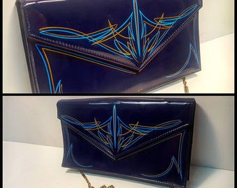 Pinstriped Hand Bag