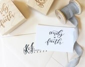 """BLACK FRIDAY SALE! Custom Calligraphy Stamp - Hand Lettered up to 2.5"""" x 2.5"""""""