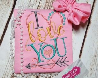 White girls valentine's day shirt - love - heart