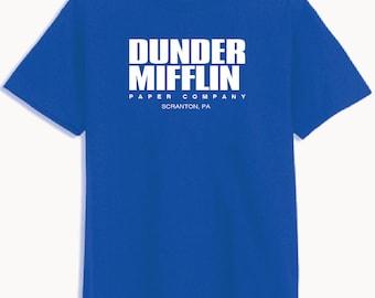 Dunder Mifflin Paper The Office Funny SCHRUTE Men's *** BLUE *** T-Shirt