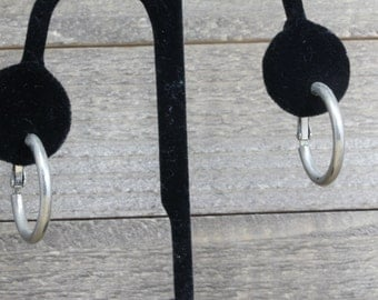 Estate, Silver Hoop Earrings