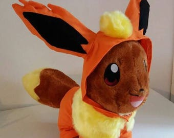 Build A Bear Eevee Eeveelution Onesies - Flareon Pokemon
