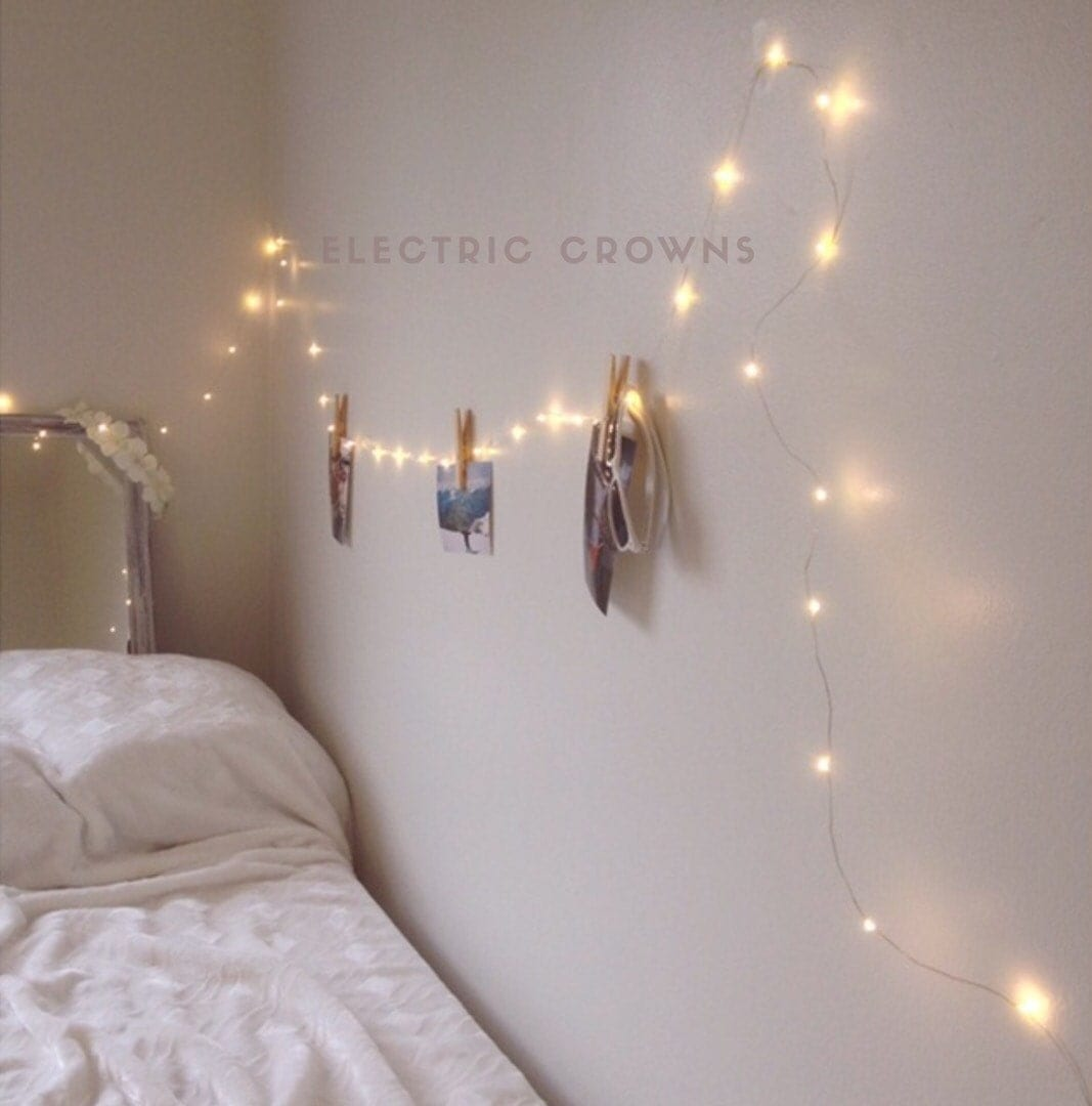 Night light fairy lights bedroom home decor living room for Room decor with fairy lights