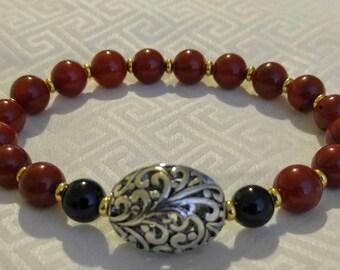 Women's Coral Bead Bracelet
