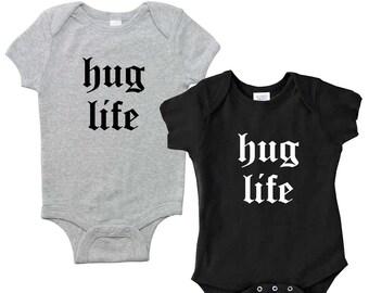 Baby Onesie- hug life. Baby Gift. Baby Shower. Baby Girl Clothes. Baby Boy Clothes. Baby Shower Gift. Funny Baby Onesies. Hug Life. Onesie.