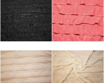 Ruffle soft chiffon like fabric trim several colors