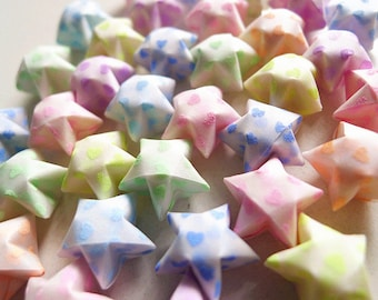 Luminous Sweet Hearts Origami Stars - Mixed Color Glow in The Dark/Party Supply/Gift Enclosure/Home Decor