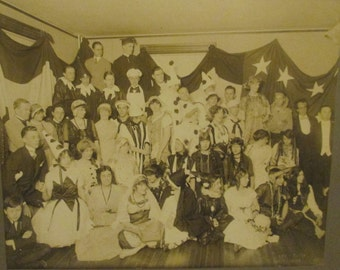 Antique 1800s Vaudeville / Theatre Troupe Cabinet Photo / Circus Performers  (Z28)
