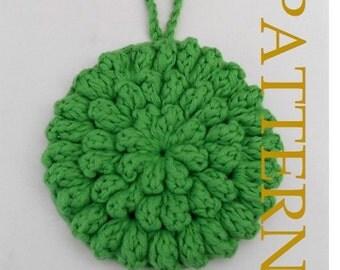 BATH POUF/Kitchen Scrubbie PATTERN  - Pdf Pattern for crochet Bath Pouf/Scrubbie