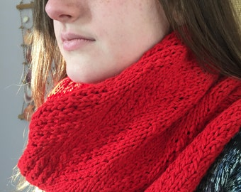 Red Infinity Scarf, #054