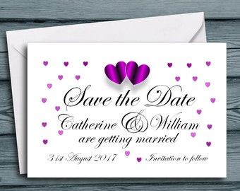 """Personalised Save the Date Cards 4x6"""" Invitations with Envelopes Vintage Postcards ~10x15cm Day Evening Shabby Rustic Country Old Post Cards"""