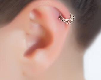 Tiny hoop earrings. sterling silver cartilage hoop. cartilage earring. helix hoop. helix piercing. silver helix hoop.