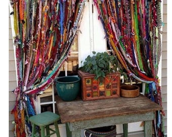 Bohemian indoor/outdoor curtains