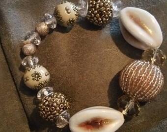 Pink Nautical shell bracelet