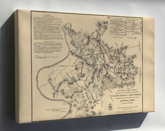 Canvas 24x36; Battlefield Map In Front Of Nashville 1864