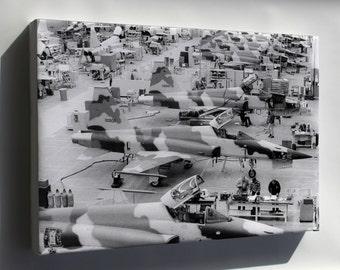 Canvas 24x36; Northrop F-5 E Tiger Ii Hawthorne Plant Pre 1974 P2