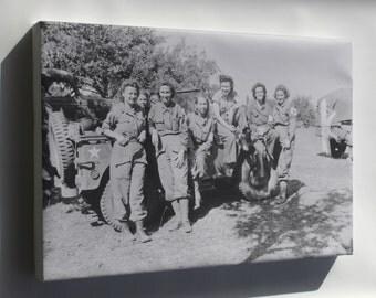 Canvas 24x36; Nurses Of A Field Hospital In France Aug 1944