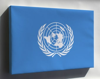 Canvas 24x36; Flag Of The United Nations