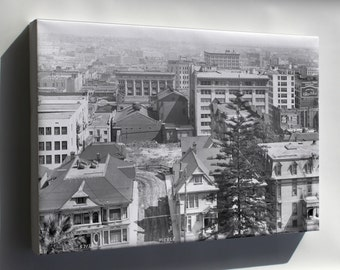 Canvas 24x36; Panoramic View Of Downtown Los Angeles From The Melrose Hotel, Ca.1914 (5712) #031215